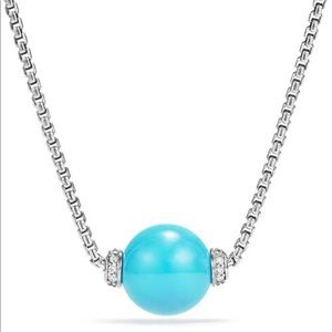 DAVID YURMAN Turquoise Solaris Silver Necklace 16""